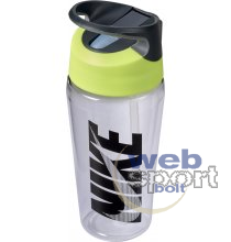 NIKE TR HYPERCHARGE STRAW BOTTLE GRAPHIC 16 OZ CLEAR/VOLT/COOL GREY/BLACK