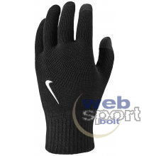 NIKE KNITTED TECH AND GRIP GLOVES BLACK/BLACK/WHITE