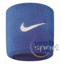 NIKE SWOOSH WRISTBANDS ROYAL BLUE/WHITE