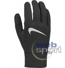 NIKE MENS LIGHTWEIGHT TECH RUNNING GLOVES BLACK/BLACK/SILVER